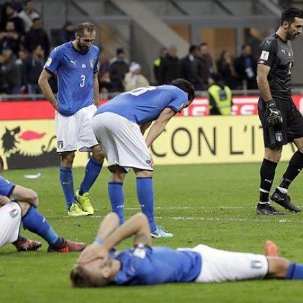 Itália empata com Suécia e fica fora da Copa