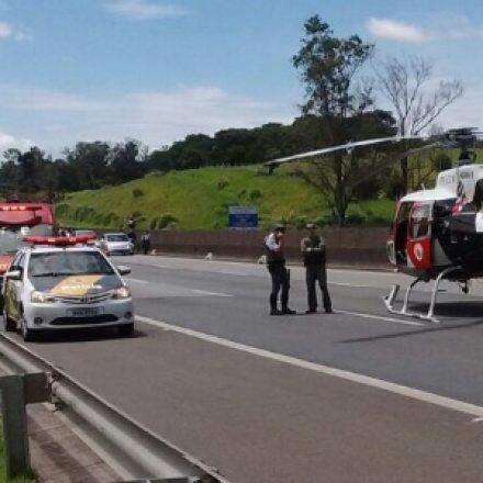 Ciclista morre ao ser atingido por ônibus em acidente na Rodovia Anhanguera