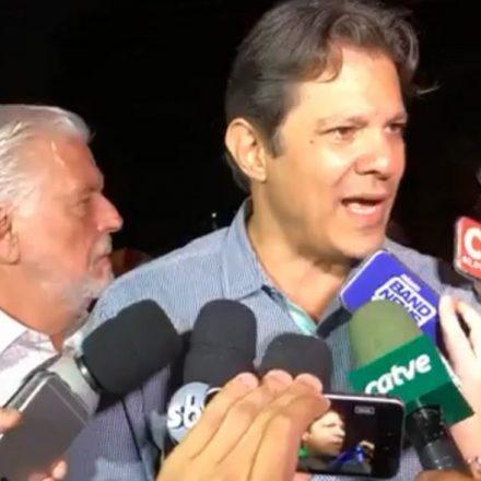 """PT só aposta no Lula"", diz Haddad sobre disputa pela Presidência"