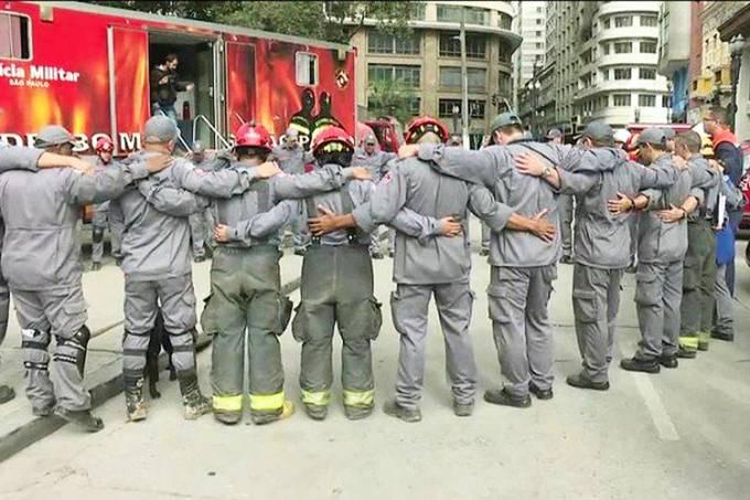 Bombeiros encerram buscas em escombros no Largo do Paissandu