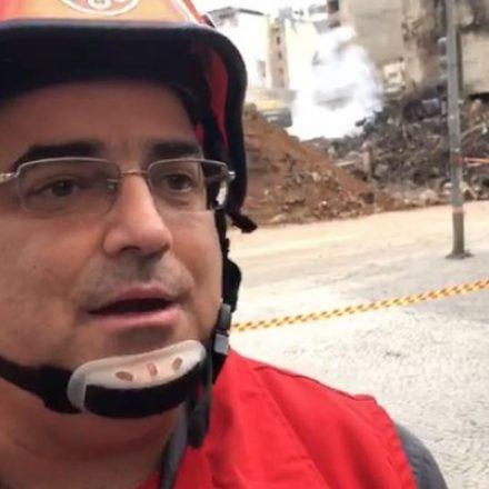 Bombeiros dizem ser possível encontrar sobreviventes no prédio que desabou no Centro de SP