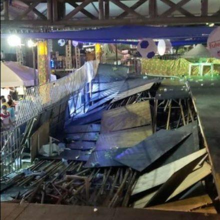 Camarote desaba durante show de Xand Avião no Mossoró Cidade Junina