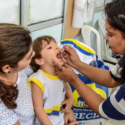 'Dia D' de vacinação contra a pólio e sarampo será amanhã