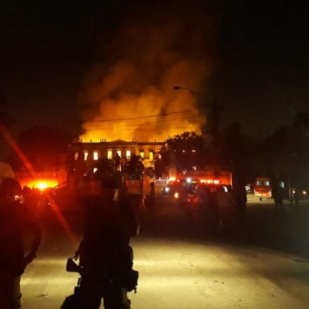 Incêndio destruiu quase todo o acervo do Museu Nacional
