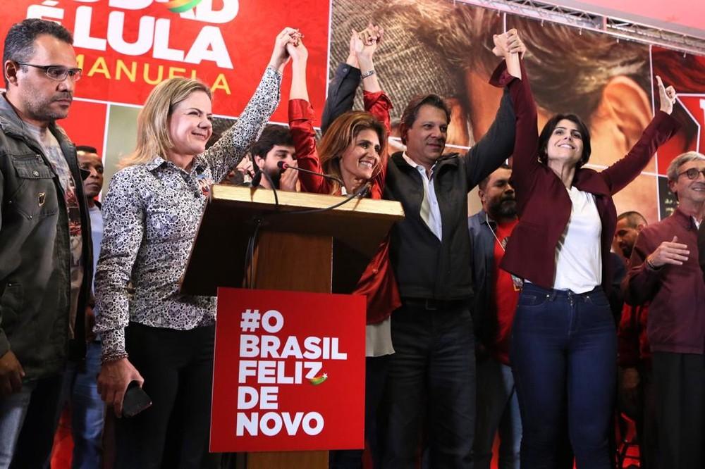 Haddad comemora ida ao segundo turno e diz que quer 'unir os democratas do Brasil'