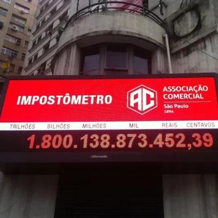 Impostômetro da ACSP chegará a R$ 2 trilhões, amanhã