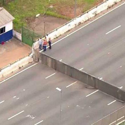 Viaduto interditado em SP cedeu mais três milímetros, diz secretário