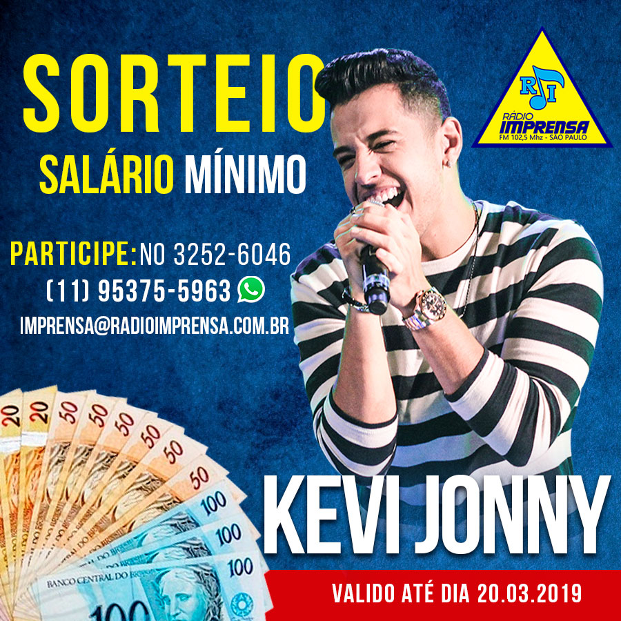 Sorteio do  Kevi Jonny
