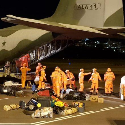 Bombeiros que atuaram em Brumadinho embarcam para Moçambique
