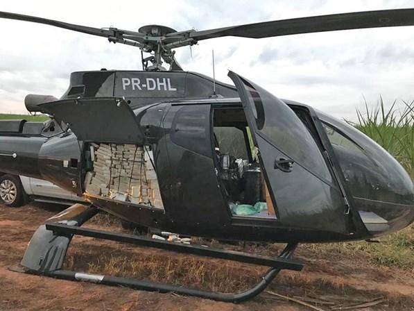 PF apreende meia tonelada de cocaína em helicóptero