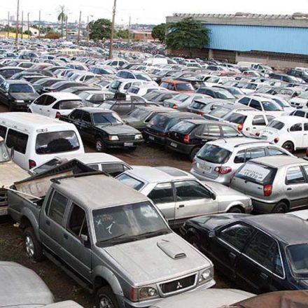 DETRAN leiloará 671 veículos  na próxima terça-feira