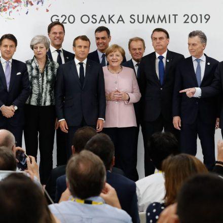 Líderes mundiais em Osaka anunciam acordo do clima 19+1