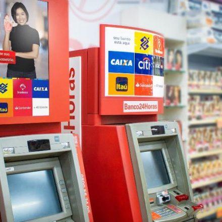 Caixas eletrônicos do Banco 24 Horas passarão a exibir anúncios