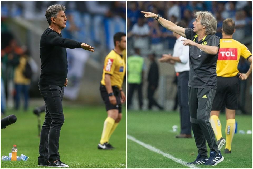 Com estratégias diferentes, Grêmio e Flamengo jogarão pela Libertadores, hoje