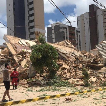 Bombeiros confirmam primeira morte em desabamento em Fortaleza