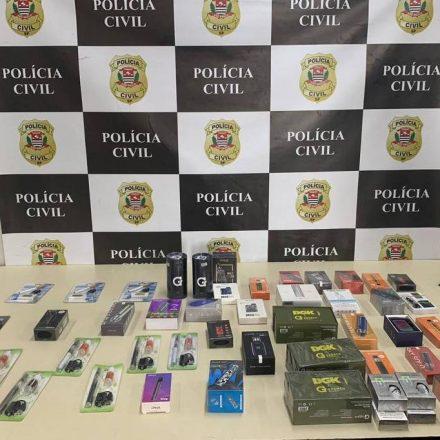 Polícia apreende cigarros eletrônicos em São Paulo
