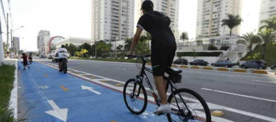 TJ-SP libera pinturas de ciclovias de azul e amarelo em São Bernardo
