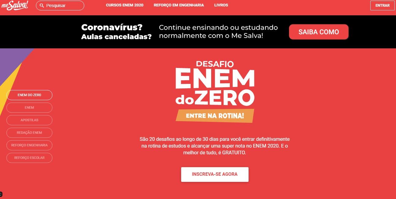 Cursinho online oferece conteúdos gratuitos durante pandemia do coronavírus