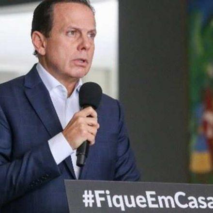 Governador Doria anuncia flexibilização da quarentena em São Paulo a partir de 11 de maio