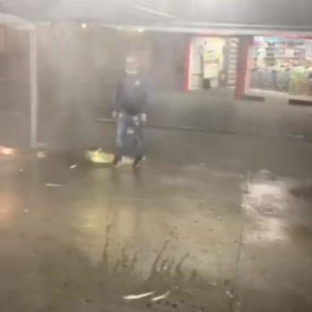 Osasco implanta Estação de Higienização de pedestres em frente a estação da CPTM