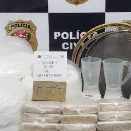 Polícia Civil apreende mais de 65 quilos de cocaína em Arujá