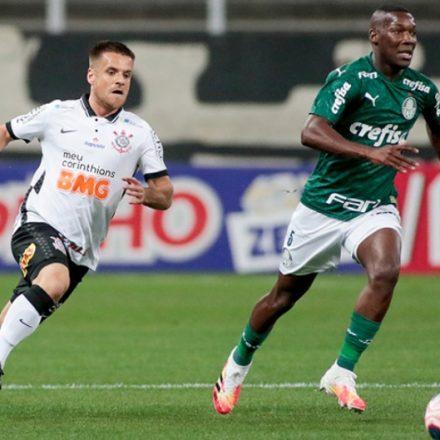 Sem brilho, Corinthians e Palmeiras empatam sem gols no 1º jogo da final.