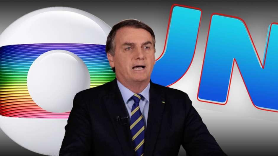 Bolsonaro culpa Globo por parte das 100 mil mortes por covid