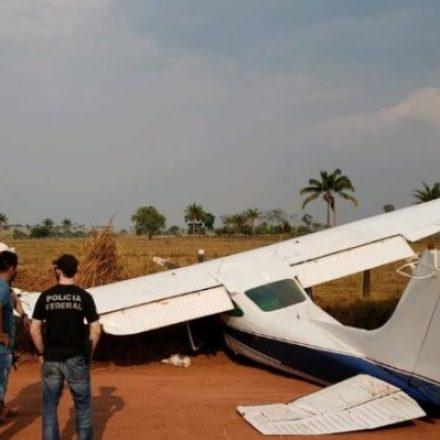 Avião que transportava cocaína é apreendido em Rondônia