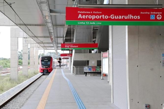 Novo Expresso Aeroporto da CPTM entra em operação e 5º trem com bagageiro é entregue