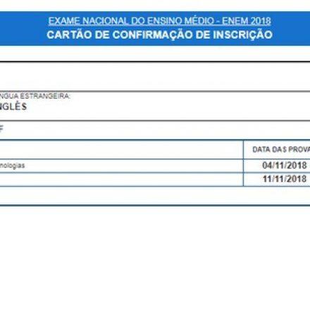 Enem 2018: locais de prova estão disponíveis para consulta no cartão de confirmação