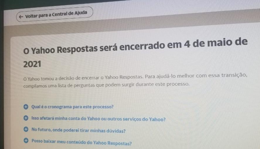 Yahoo Respostas é desativado a partir de hoje