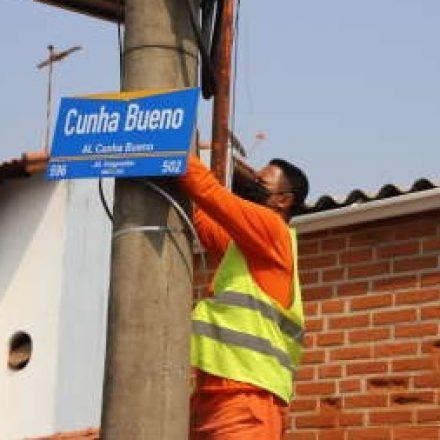 Suzano inicia instalação de novas placas de ruas na região do Jardim Imperador